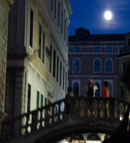 Moon over Venice from Gondola - Venice Day 4