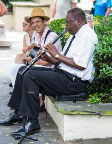 French Quarter Street Clarinetist
