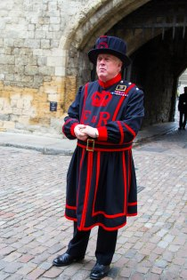Beefeater explaining Opening Ceremony at The Tower