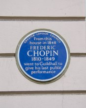 Chopin Plaque