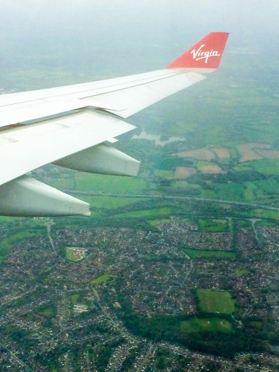 English Countryside from Plane