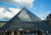 Pyramid Entrance - Louvre