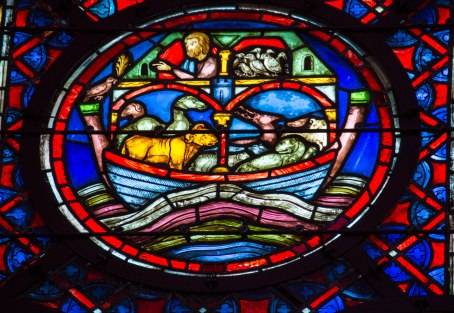 Noah's Ark Stained Glass
