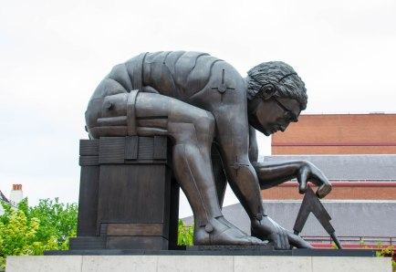 Statue at the British Library
