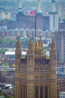 Union Jack over Parliament